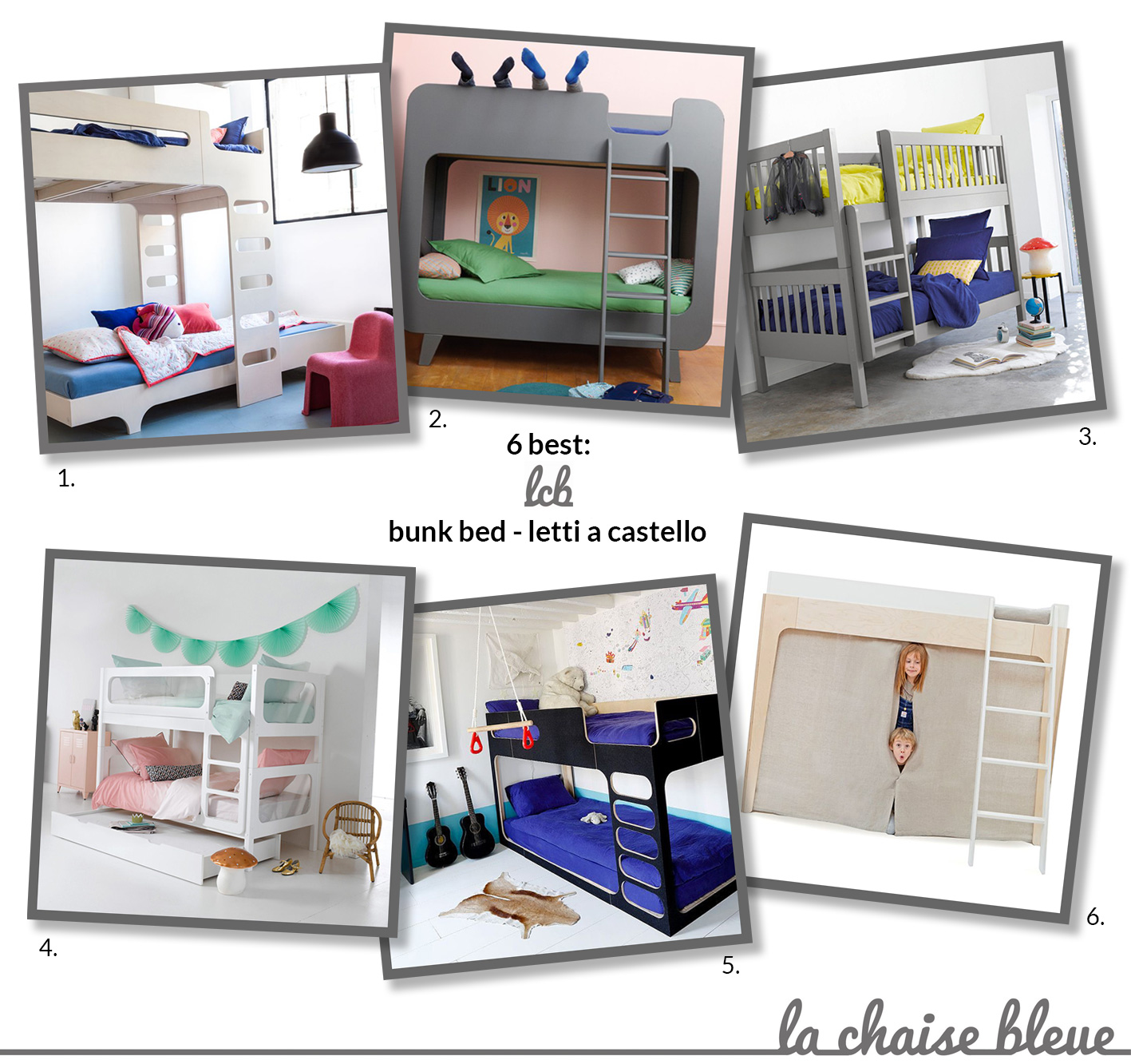6 best: bunk bed – letti a castello – La Chaise Bleue